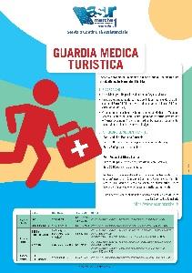 locandina con orari della guardia medica turistica