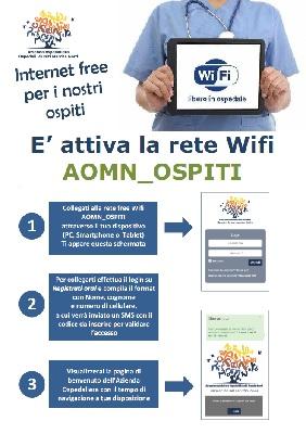 Indicazioni per il collegamento al wifi